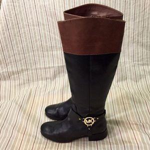 Michael Kors Brown & Black Knee High Boots